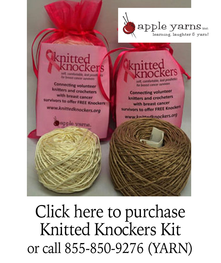 Knitted Knocker kits at Apple Yarns